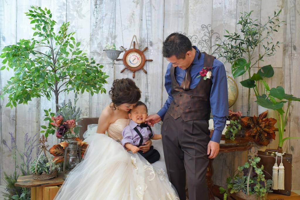 家族写真 記念写真 福岡 北九州 花嫁 ヘアアレンジ ウェディング