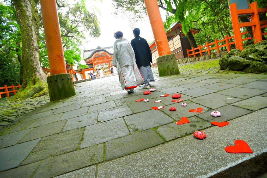 フォトウェディング 北九州 ロケ 撮影 花嫁 結婚式 和装 髪型