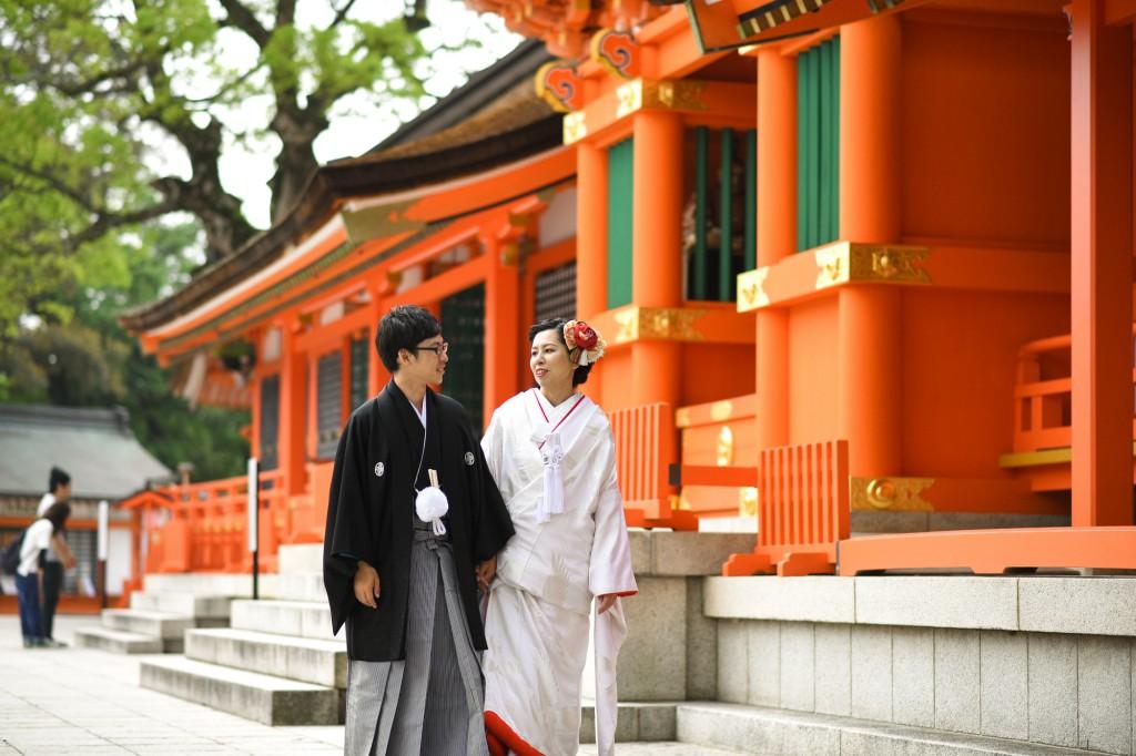 フォトウェディング 北九州 福岡 結婚写真 結婚式場 花嫁 和装