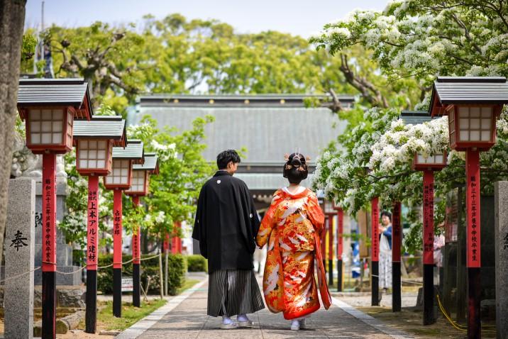 前撮り フォトウェディング 花嫁 和装 北九州 福岡 結婚式